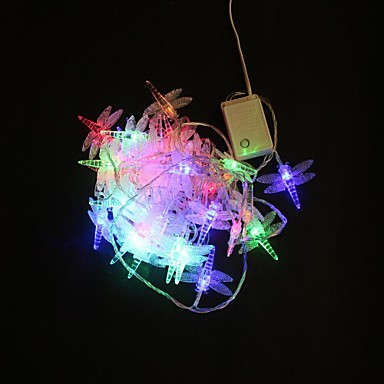 40-LED 5M Multicolor Dragonfly Color Changing String Fairy Lights for Party Wedding
