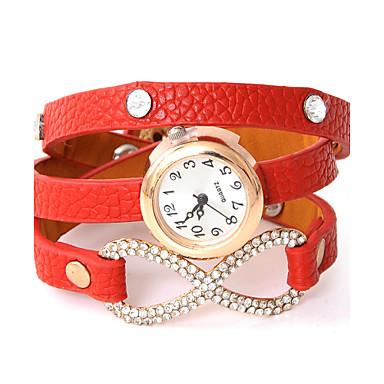 Bărbați Pentru femei Quartz Ceas de Mână Modă PU Bandă Ceas Brățară Casual Negru