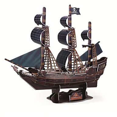 voordelige 3D-puzzels-deluxe edition super grote 3d puzzel ambachtelijke de zwarte peer schip DIY 3D driedimensionale puzzel boot model educatief speelgoed
