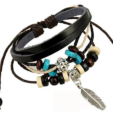 Herre Charm-armbånd Wrap Armbånd Mode Læder Legering Smykker Daglig