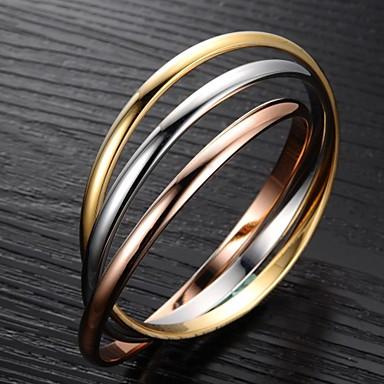 Pentru femei Brățări Bangle - Teak, Placat Auriu Iubire Design Unic, Modă Brățări Auriu / Argintiu Pentru Cadouri de Crăciun / Nuntă / Petrecere