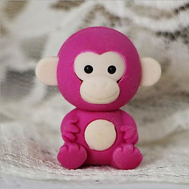 Cute Detachable Little Monkey Shaped Eraser (Random Color x 2 PCS)