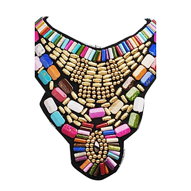 Women's Jewelry Festival/Holiday Fashion Colorful Statement Necklace Bib necklaces Resin Alloy Statement Necklace Bib necklaces , Party