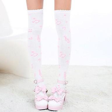 Socks/Stockings Sweet Lolita Dress Lolita Princess Lolita Accessories Stockings Print For Nylon
