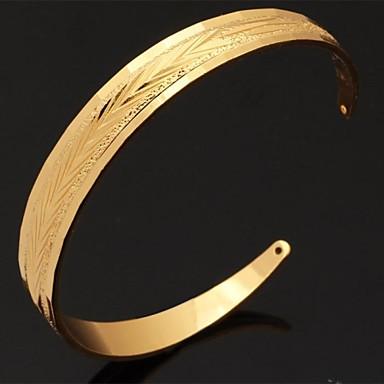 Damen vergoldet Manschetten-Armbänder - Ohne Verschluss Einstellbar Silber Golden Armbänder Für Weihnachts Geschenke Hochzeit Party