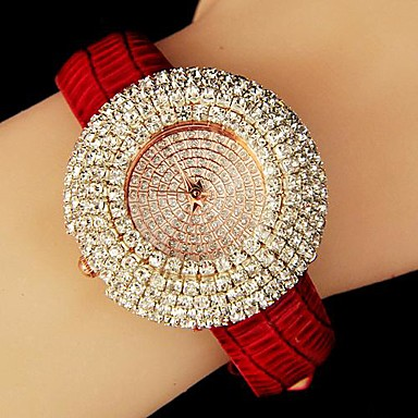 Velkolepý dámský vynikající diamant opasek módní hodinky