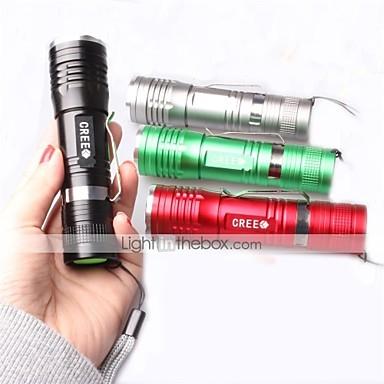 1 Lanterne LED LED 1000 lm 3 Mod Cree XM-L T6 cu Încărcător Focalizare Ajustabilă Rezistent la Impact Mâner antialunecare Rezistent la apă