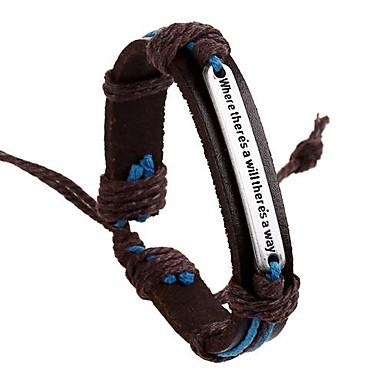 Herrn Leder Anderen ID Armband - Erste Schmuck Inspirationen Europäisch Braun Armbänder Für Alltag