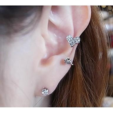 Damen Künstliche Perle Strass Ohrstecker Ohr-Stulpen - Ohrringe Für Hochzeit Party Alltag