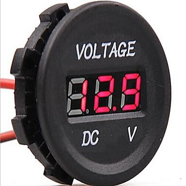 voordelige Automatisch Electronica-dc 12v-24v auto digitale leidde voltage elektrische voltmeter schermindicator tester