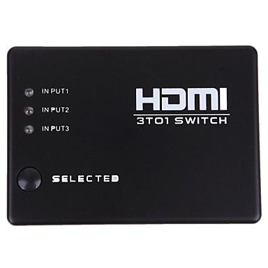 noi 3 porturi HDMI box de la distanță amplificator audio splitter video switch switcher 1080p