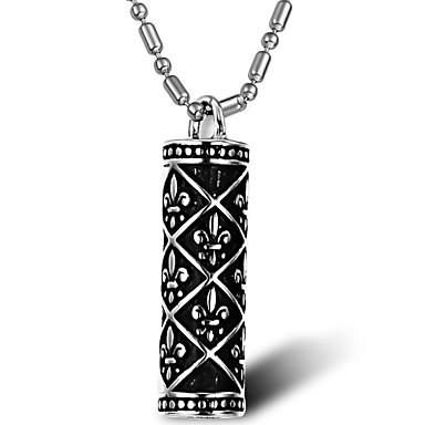 Bijuterii Coliere cu Pandativ Petrecere / Zilnic / Casual Oțel titan Bărbați Argint Cadouri de nunta