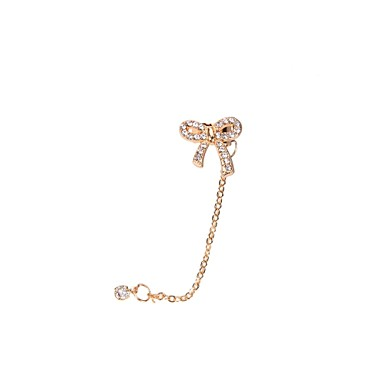 Dames Oor manchetten Luxe Strass Gesimuleerde diamant Legering Strikvorm Sieraden Bruiloft Feest Dagelijks Causaal Sport