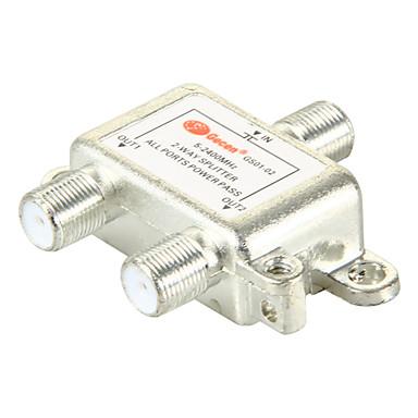 2-Wege-Satelliten-TV-Antenne Koaxial-Leistungsteiler silbrig