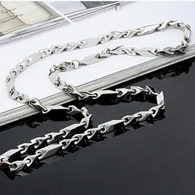 Heren Kettingen Ketting Roestvast staal Eenvoudige Stijl Modieus Zilver Sieraden 1 stuks