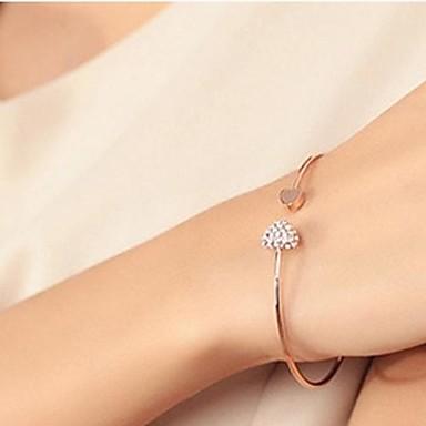 personalitate de moda diamant complet in forma de inima deschideri brățară iubesc femeile kegg® lui