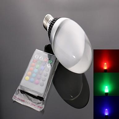 E26/E27 LED-spotlampen C35 1 leds Krachtige LED 950lm RGB Op afstand bedienbaar AC 85-265