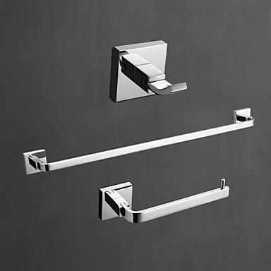 Set de Accesorios de Baño Alta calidad Moderno Latón 3pcs - Baño del hotel barra de la torre Robe Hook Soportes del Papel Higiénico