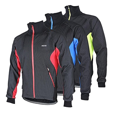 Arsuxeo Herrn Fahrradjacke Rot / Blau / Leicht Grün Patchwork Fahhrad Winter Vliesjacken / Vliesen / Jacke / Oberteile warm halten,