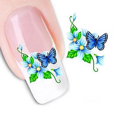 1 pcs 3D Nails Nagelaufkleber Wassertransfer Aufkleber Nagel Kunst Maniküre Pediküre Blume / Hochzeit / Modisch Alltag / 3D Nagel Sticker