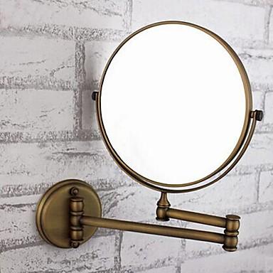 Badezimmer Gadget Einstellbare Passform Antike Messing / Glas 1 Stück - Spiegel Duschzubehör