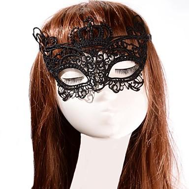 Karnival Maske Herrn Damen Halloween Fest / Feiertage Halloween Kostüme Solide Spitze