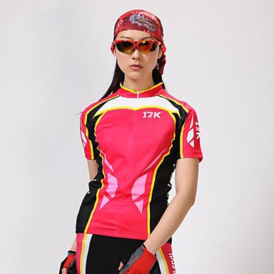 Mysenlan Жен. С короткими рукавами Велокофты и велошорты - Красный Велоспорт Шорты Джерси Наборы одежды, Быстровысыхающий,