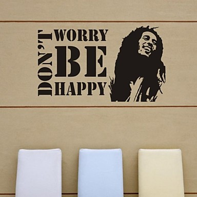 autocolante de perete decalcomanii de perete, nu vă faceți griji fi fericit autocolante de perete din PVC