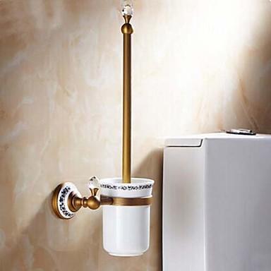 Toiletborstelhouder / Antiek Koper Kristal Keramiek /Antiek