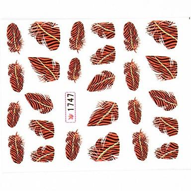water transfer printen nail art stickers decals veer patroon voor valse acryl nagel tips ontwerp nail art