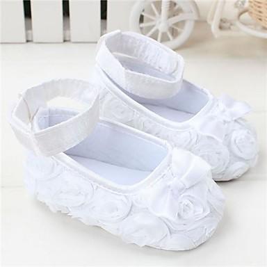 voordelige Babyschoenentjes-Meisjes Wiegschoenen Platte schoenen Zuigelingen (0-9m) Strik Rood / Roze / Paars Lente zomer