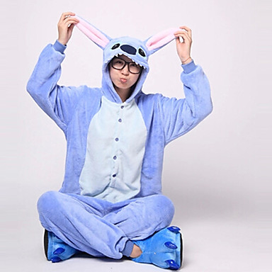 Kigurumi-Pyjamas Blaues Monster / Monster Pyjamas-Einteiler Kostüm Flanell Vlies Blau Cosplay Für Erwachsene Tiernachtwäsche Karikatur