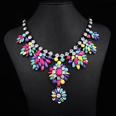 Women's Popular Rainbow Gem Necklace