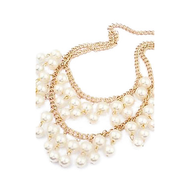 Women's Alloy Double New Pearl Necklace