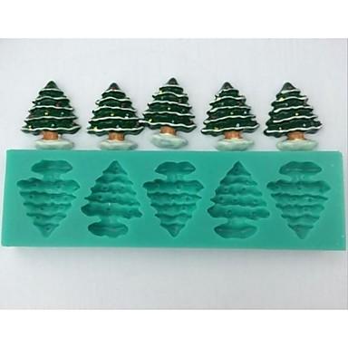 Crăciun fondante copac instrumente de decorare tort de ciocolată silicon mucegai tort, l14.5cm * w4.3cm * h1cm