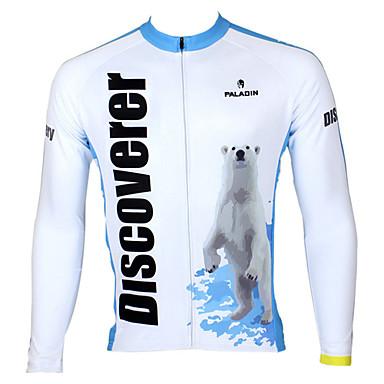 ILPALADINO Męskie Długi rękaw Koszulka rowerowa Rower Dżersej Top Keep Warm Oddychający Szybkie wysychanie Sport 100% poliester Kolarstwo górskie Kolarstwie szosowym Odzież