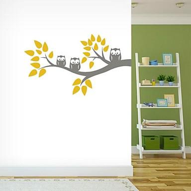 Декоративные наклейки на стены - Простые наклейки Абстракция Животные Цветы Мультипликация фантазия Гостиная Столовая Мальчики Девочки