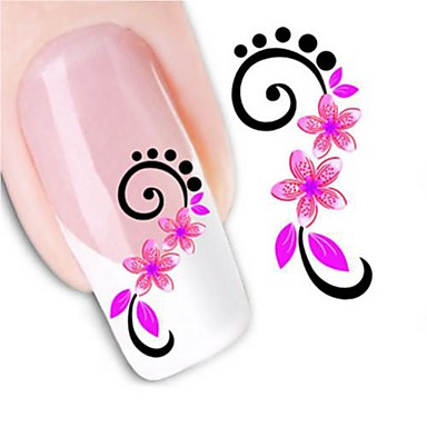1pcs Wasser Transfer Aufkleber 3D Nagel Sticker Nagel Stamping Vorlage Alltag Blume Modisch Gute Qualität
