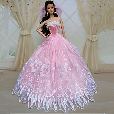 ad4181a411e3 Πάρτι   Απόγευμα Φορέματα Για Barbiedoll Δαντέλα   Organza Φόρεμα Για Κορίτσια  κούκλα παιχνιδιών 2126161 2019 –  10.19