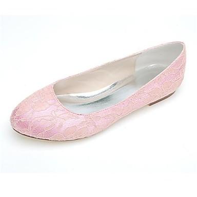 Pentru femei Pantofi Dantelă Primăvară Vară Confortabili pantofi de nunta Toc Drept Vârf ascuțit Dantelă pentru Nuntă Casual Party & Seară