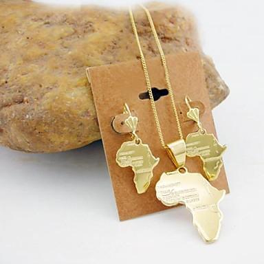 Damen Zirkon / vergoldet Schmuck-Set Ohrringe / Halsketten - Golden Schmuckset Für Hochzeit / Party / Geburtstag