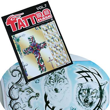 verschiedene Cross Tattoo Musterbuch