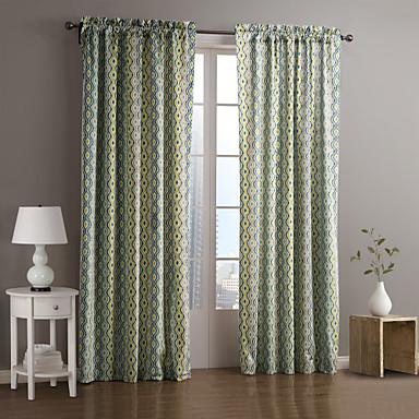 Eén paneel Window Behandeling Designer , Gestreept Woonkamer Polyester Materiaal Curtains Drapes Huisdecoratie For Venster