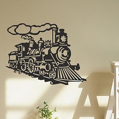 muurstickers muur stickers, vintage trein stoommachine stoomboot citeert pvc muurstickers