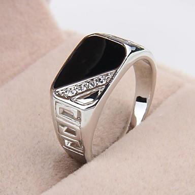 voordelige Herensieraden-Heren Statement Ring Strass Platina Verguld Gesimuleerde diamant Luxe Kerstcadeaus Feest Sieraden