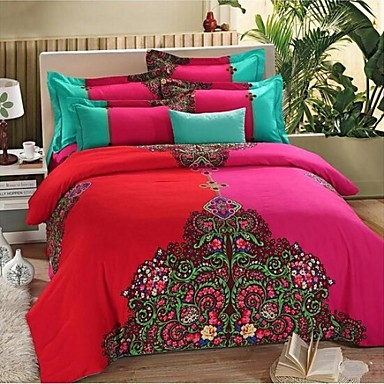 fadfay bohemian duvet covers western style queen size bedding set boho bedding sets queen. Black Bedroom Furniture Sets. Home Design Ideas