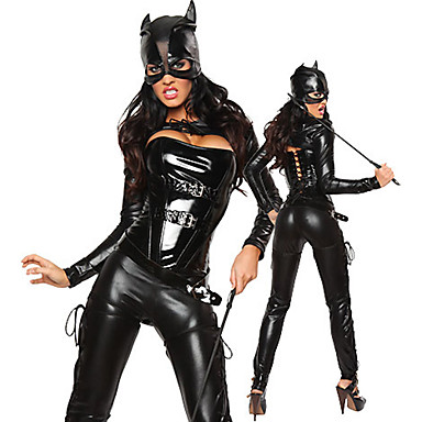 Eläin Cosplay-Asut Juhla-asu Naisten Halloween Karnevaali Festivaali / loma asuja Musta Yhtenäinen