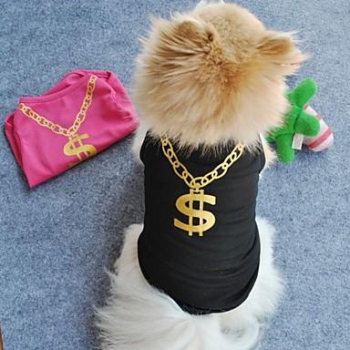 Kat Hond T-shirt Hondenkleding Zwart Groen Blauw Roze Textiel Binnenwerk Kostuum Voor huisdieren Cosplay Bruiloft
