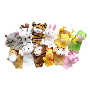 Fingerpuppen Marionetten Niedlich Neuartige lieblich Zeichentrick Textil Plüsch Mädchen Spielzeuge Geschenk 12 pcs