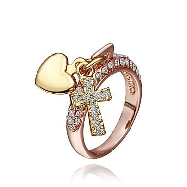 mode vrouwen rose goud strass mode-ringen (rose goud) (1st)